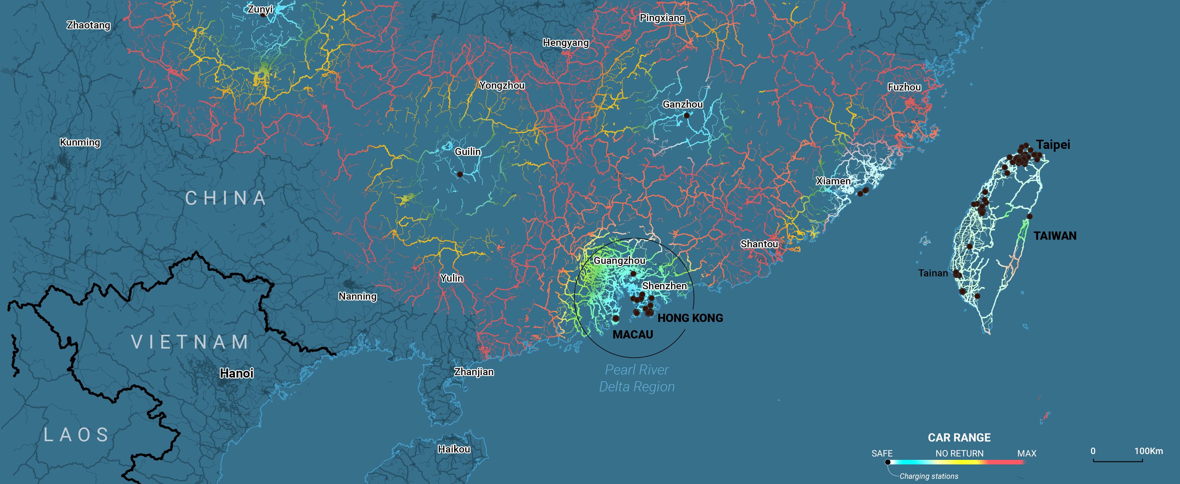 Shenzhen map